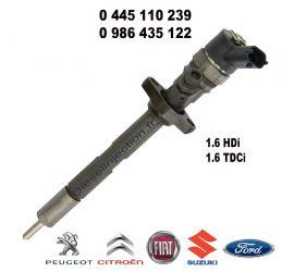Injecteur C.Rail CRI Bosch CR/IFL17/ZEREK20S 0445110239 PEUGEOT Partner